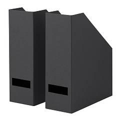 Подставка для журналов IKEA TJENA 2 шт черная 003.954.74