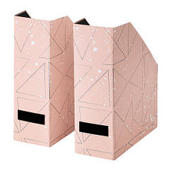 Подставка для журналов IKEA TJENA 2 шт черная розовая 503.982.10