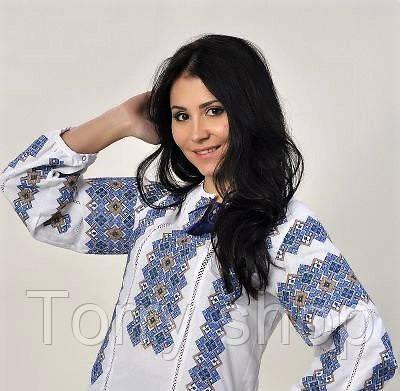 Вышиванка женская блуза на домотканном полотне