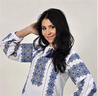 Вышиванка женская блуза на домотканном полотне, фото 1