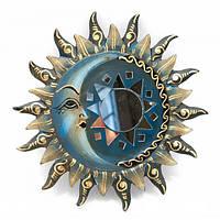 """Зеркало мозаичное """"Солнце и Луна"""" (d-20 cм) , Картины, Бабочки в рамке, Панно, Ключницы"""