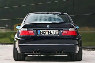 Заднее стекло (ляда) BMW 3 (E46) (1998-2005), Седан, с антенной для радио, с местом под стоп-сигнал