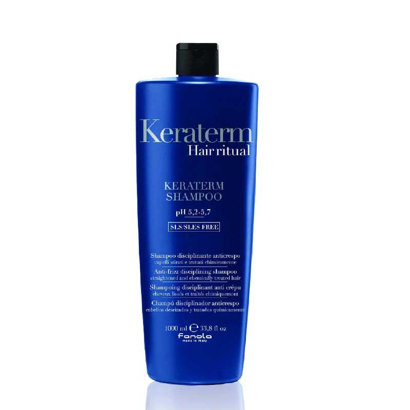 FANOLA Keraterm Shampoo - Шампунь для реконструкции повреждённых волос 1000 мл