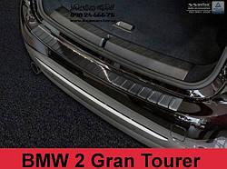 ЗАЩИТНАЯ НАКЛАДКА НА БАМПЕР С ЗАГИБОМ BMW 2 GRAN TOURER (ЧЕРНАЯ) 2015-...