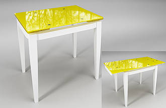 "Стол раскладной ""Тореро"" желтый+белый"