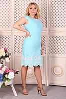 Платье Selta 439 размеры, 50, 52, 54, 56 голубой