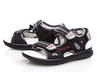 Кожаные босоножки сандалии для мальчиков, р-ры 28, 29, ТМ EEBB 9065, Реплика моделей ECCO, фото 1