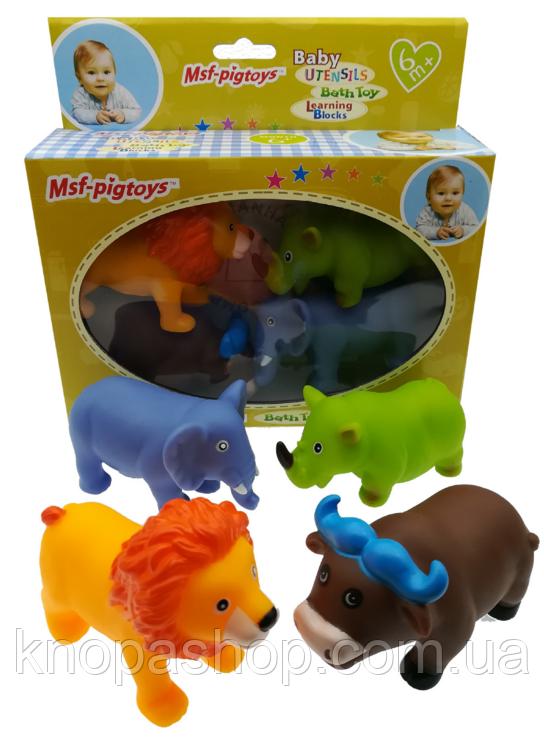 Набор резиновые животные.  Forest Animal Set  4шт в коробке   Msf-pigtoys