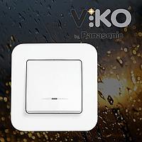 Выключатель с подсветкой одноклавишный VIKO Rollina Белый