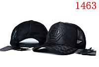 Бейсболка в стиле Philipp Plein черная