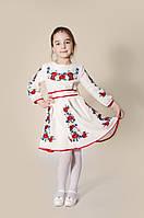 Вишите плаття для дівчинки: Богдана молочне