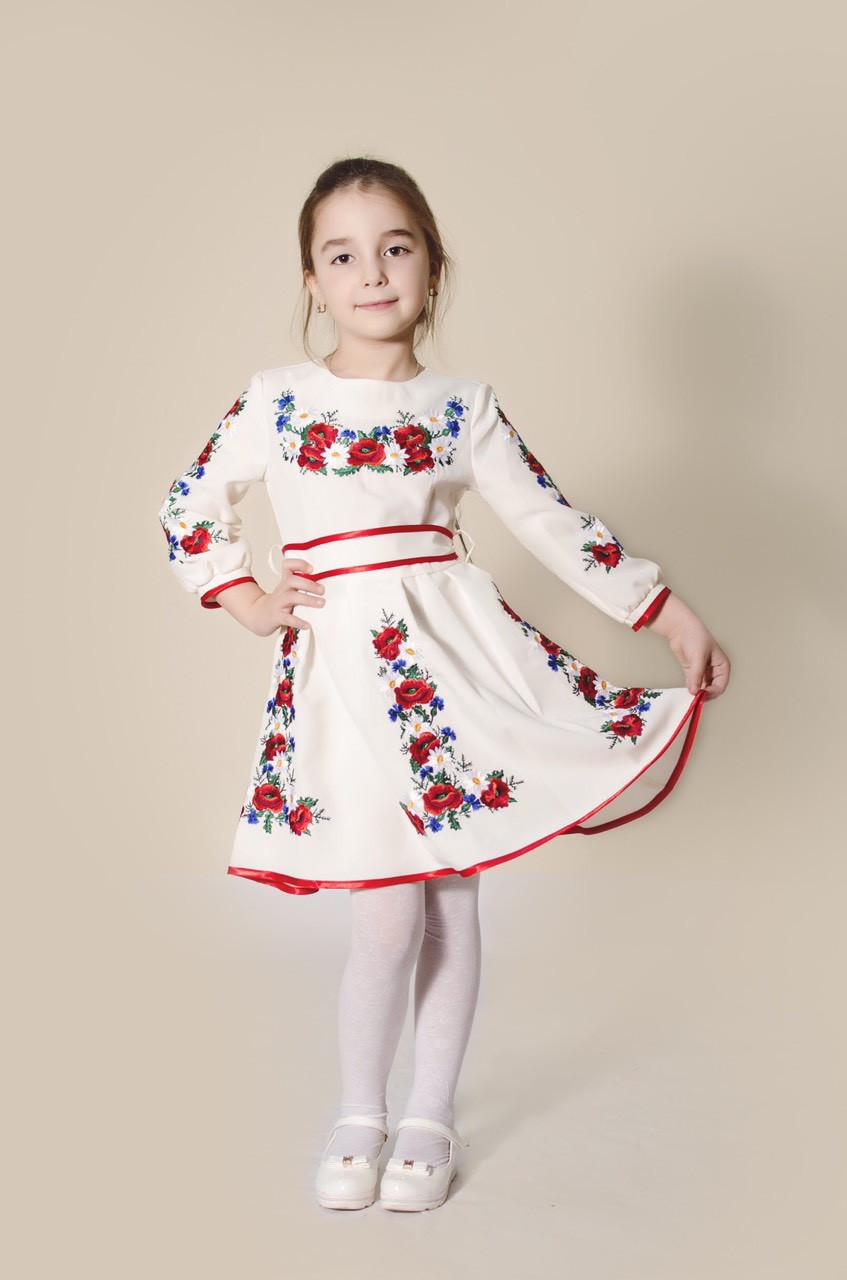 Вишите плаття для дівчинки  Орися біле - Nikashop в Киеве 74ef4f6eddf7c