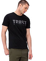 Черная мужская футболка LC Waikiki / ЛС Вайкики с надписью на груди Trust, фото 1