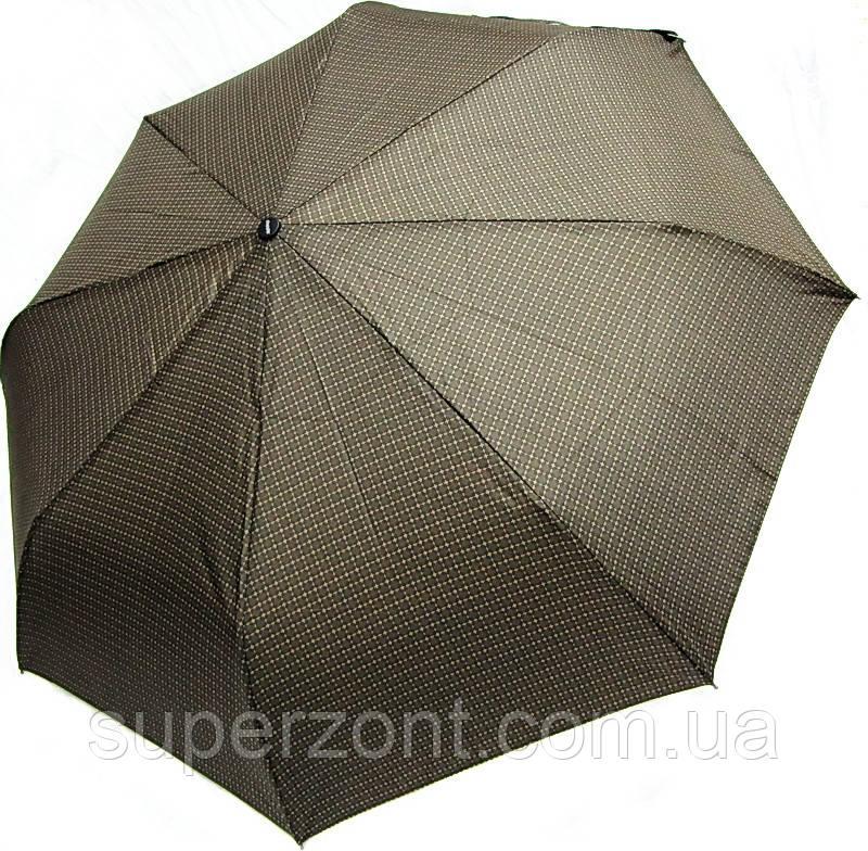 Мужской зонт полуавтоматический Doppler 730167-6 коричневый антиветер