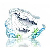 Дельфин в стекле (3,7х5х1,7 см) , Изделия из хрусталя