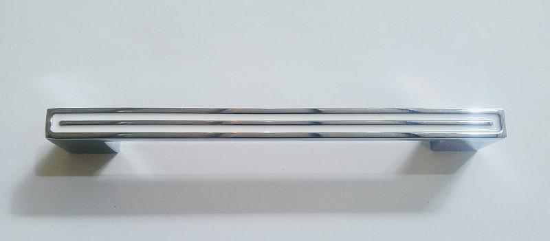 HS500-160 CR/White Ручка скоба современный дизайн, глянцевый хром с белой эмалью 160 мм, фото 1