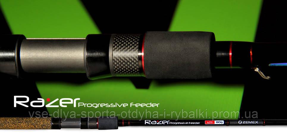 Удилище фидерное ZEMEX RAZER 13 ft до 110,0 гр.