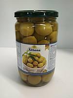 Зеленые оливки с косточкой Athena 400г