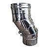 Колено (отвод) Ø120 регулируемое от 0° до 90° из нержавеющей стали 0,5мм, фото 3