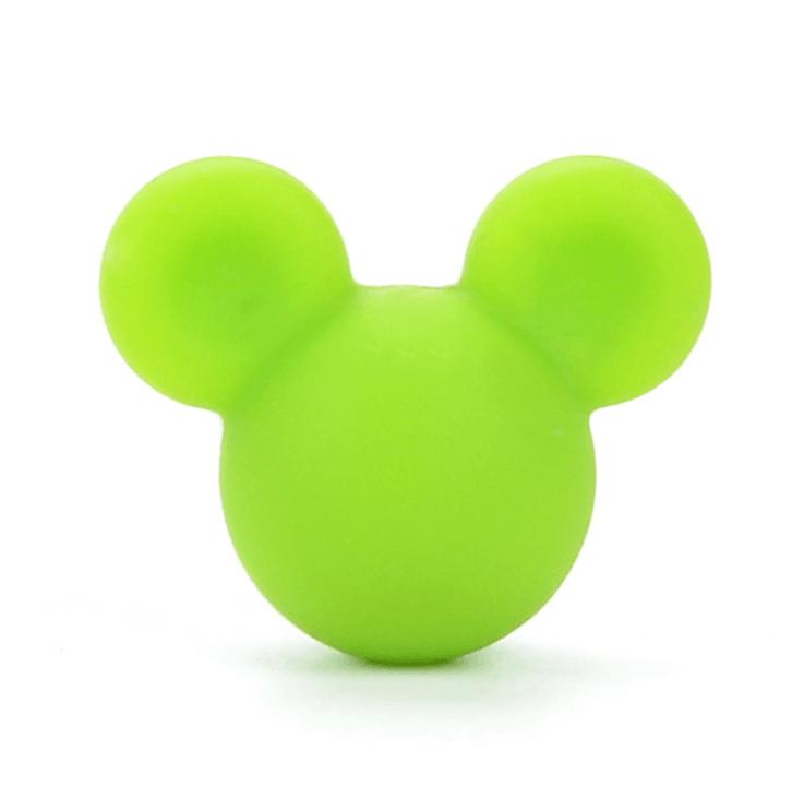 Микки маус (зеленый) бусины из пищевого силикона
