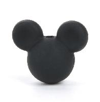 Микки маус (силиконовые бусины) черный