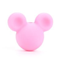 Микки маус (силиконовые бусины) розовый