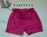 Яркие хлопковые шорты для девочки  3-4 лет, фото 1