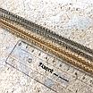 Ланцюжок фігурна кручена з карабінами, срібло, фото 2