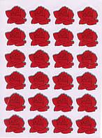 Набор наклеек для оценок 10 листов Розы