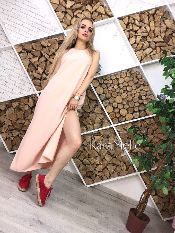 Платье свободное летнее по бокам разрезы