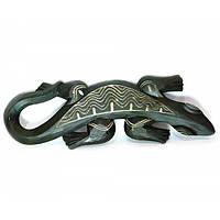 Гекон деревянный резной (17х2х50 см) , Сувениры из Индонезии