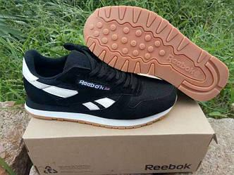 Кроссовки Reebok Classic Suede Black White черные мужские