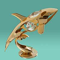 """Фигурка """"Дельфин"""" Crystocraft с кристаллами Swarovski, 0192-001"""