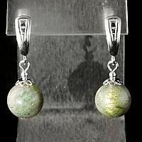 Лабрадор, срібло, сережки, 300СРЛ