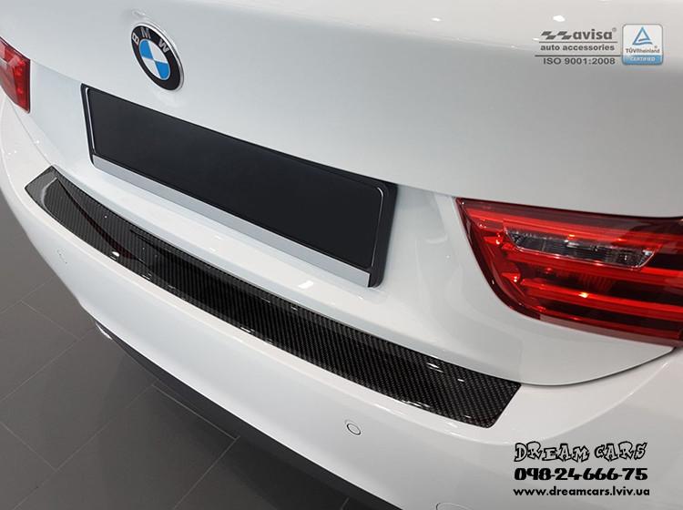 НАКЛАДКА НА БАМПЕР BMW 4 F36 GRAN COUPE CARBON 2014-...