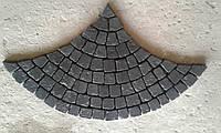 """Плитка тротуарная копия брусчатки. Камни 100*100мм связанные ниткой в рисунок (пласт)  """"Чешуя"""" 40мм"""