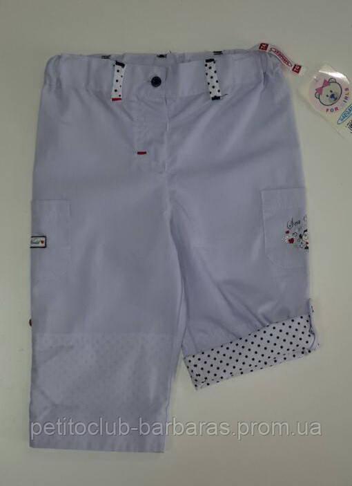 Летние брюки-трансформеры хлопковые для девочки Русалочка (Польша)