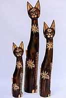 Статуэтка деревянная Кошка 60 см
