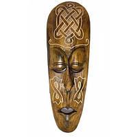 Маска деревянная (17,5х7х50 см) , Сувениры из Индонезии