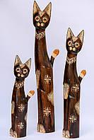 Статуэтка кошка деревянная высота 60 см