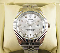 Часы Rolex Date Just 40mm All Silver. Реплика, фото 1