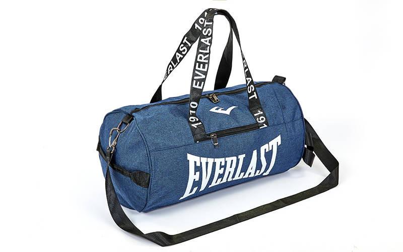 Сумка спортивная в стиле Everlast GA-0155 (сумка бочонок): 50х25х25см  цвет синий