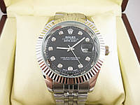 Часы Rolex Date Just 40mm Silver/Black. Реплика