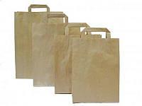 Бумажные пакеты бурый крафт  180x85x230