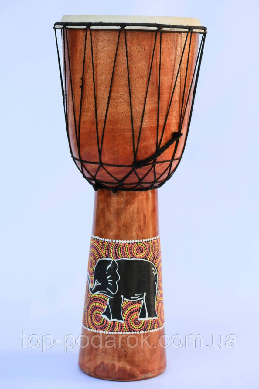 Барабан там-там бамбуковый  высота 60 см