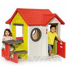 Smoby Ігровий будиночок зі столом для пікніка (810401) My House & Pic-Nic Table