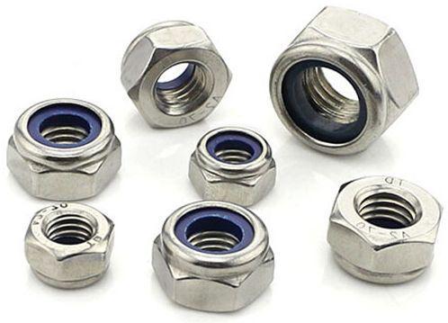 Гайка нержавеющая М22 DIN 985, ISO 10511 низкая самоконтрящаяся с нейлоновым кольцом