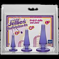 Набор анальных пробок Doc Johnson Crystal Jellies Anal Initiation Kit - Purple