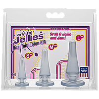 Набор анальных пробок Doc Johnson Crystal Jellies Anal Initiation Kit - Clear