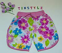 Тонкие хлопковые шорты для девочки 5-10 лет, фото 1